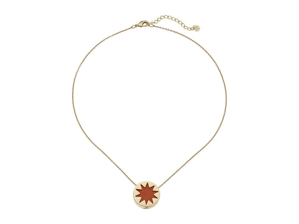 House of Harlow 1960 - Mini Sunburst Necklace (Tan) Necklace