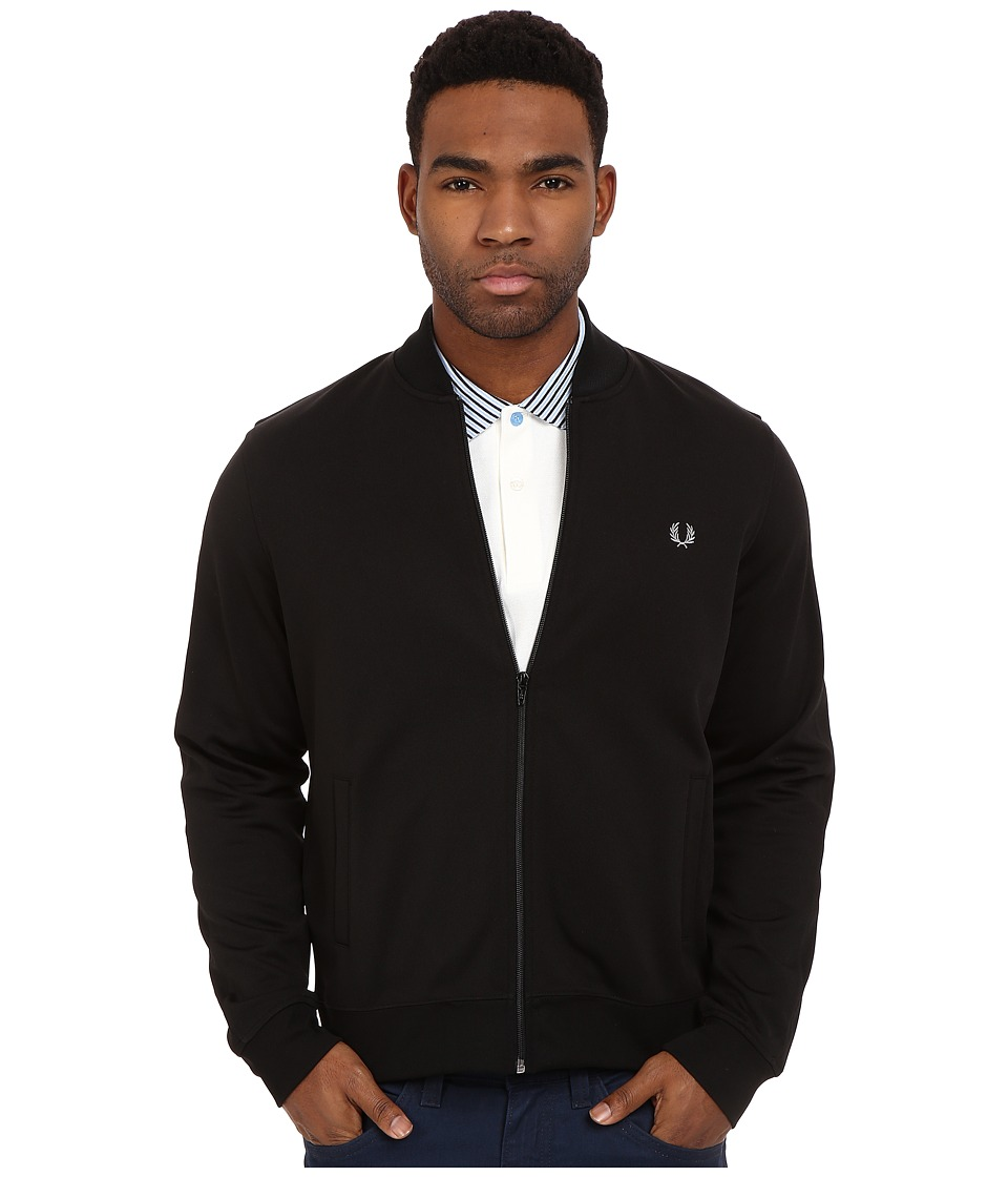 Fred Perry Bomber Track Jacket Black Mens Coat