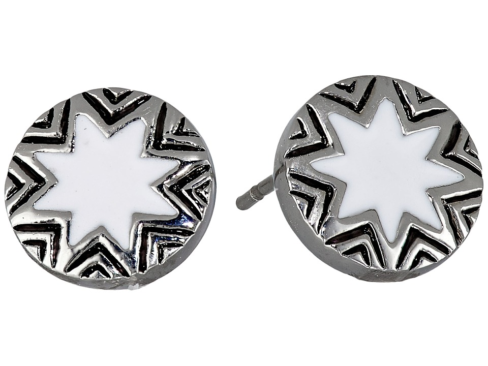 1960s Costume Jewelry – 1960s Style Jewelry House of Harlow 1960 - Engraved Sunburst Stud Earrings White Earring $28.00 AT vintagedancer.com