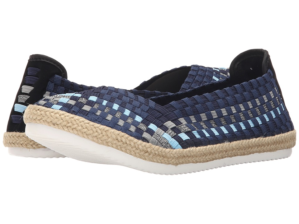 Steven Caliee Blue Multi Womens Slip on Shoes