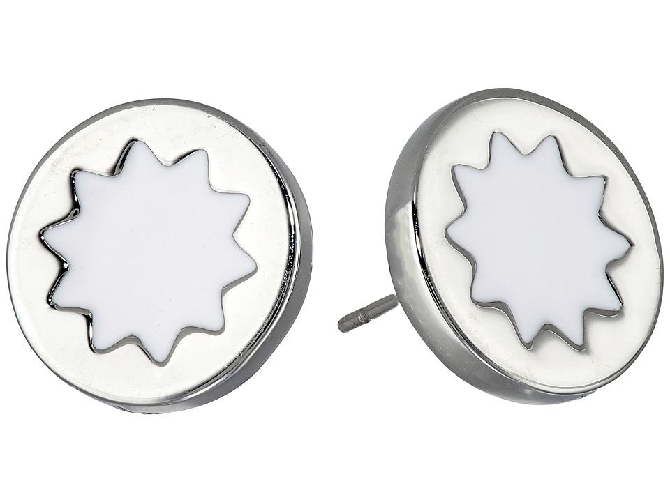 House of Harlow 1960 - Enameled Sunburst Studs Earrings (White) Earring