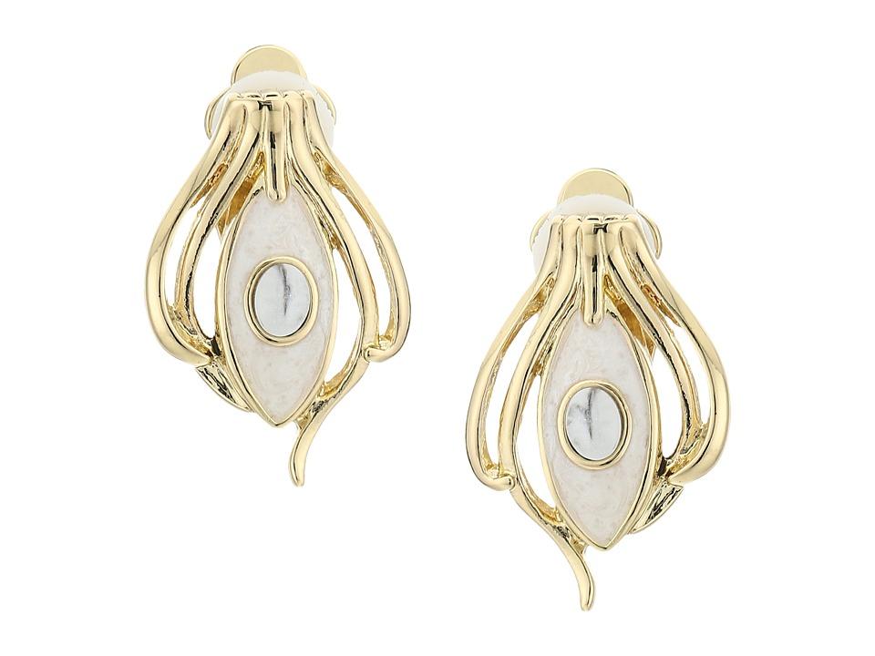 House of Harlow 1960 - Risha Clip-On Earrings (Howlite) Earring