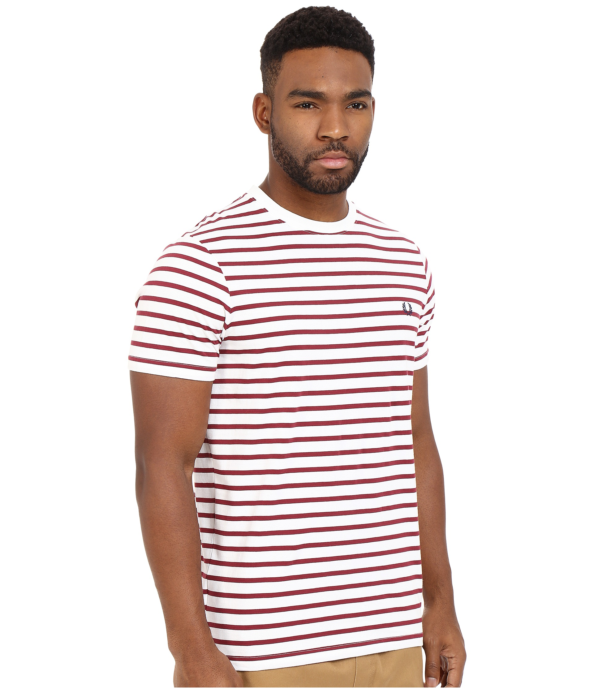 fred perry breton stripe t shirt porcelain. Black Bedroom Furniture Sets. Home Design Ideas
