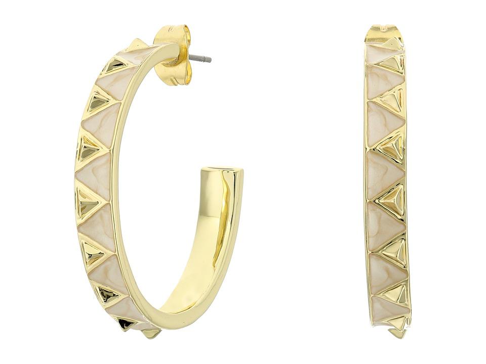 House of Harlow 1960 - Nile Delta Hoop Earrings (Howlite) Earring