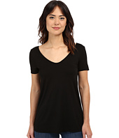 Three Dots - Short Sleeve Double V Tee