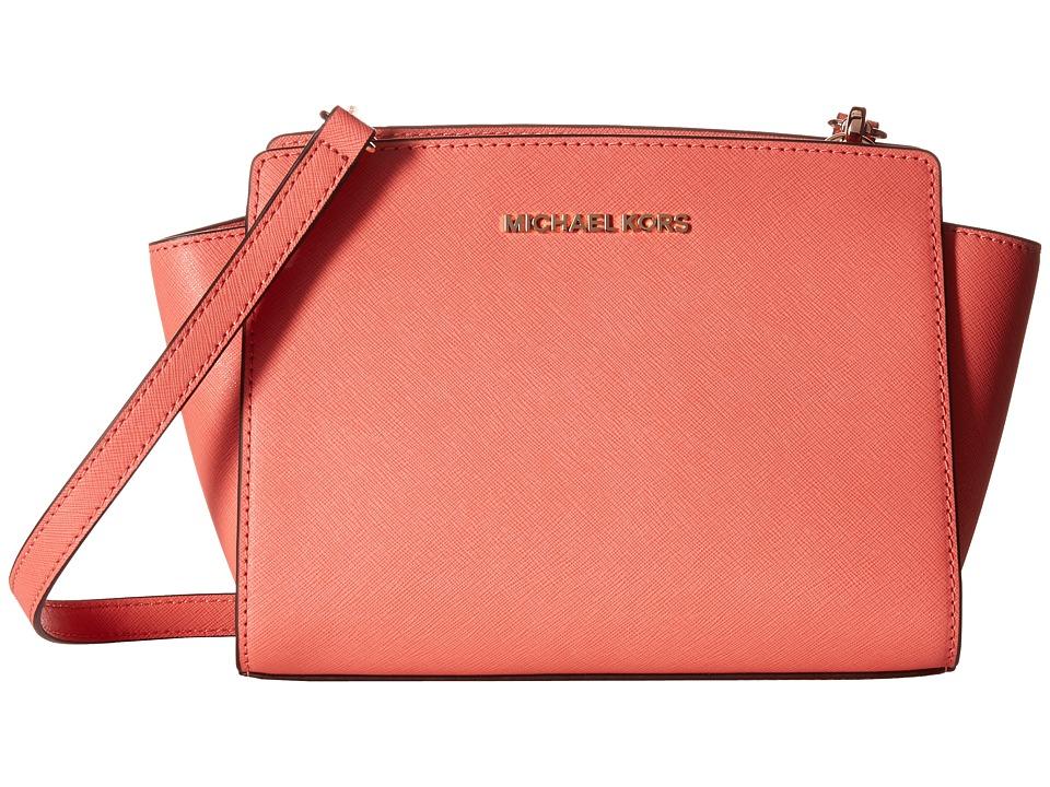 MICHAEL Michael Kors Medium Selma Messenger Pnkgrapfruit Cross Body Handbags