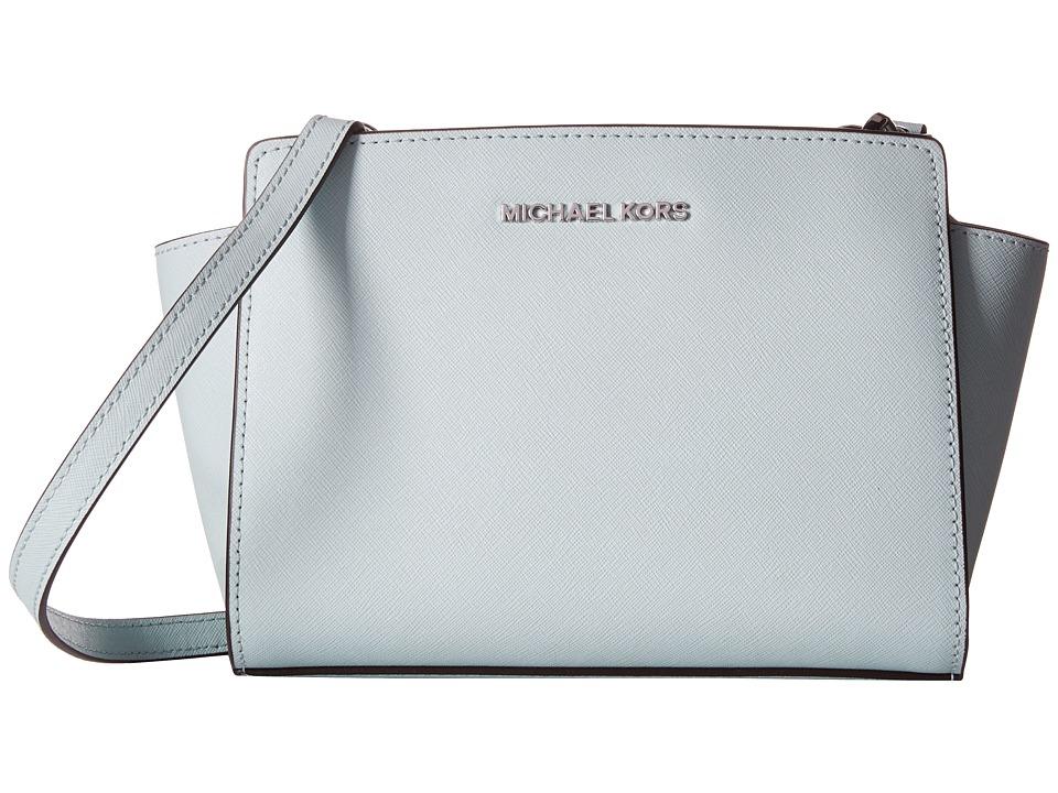 MICHAEL Michael Kors Selma Medium Messenger Celadon Cross Body Handbags