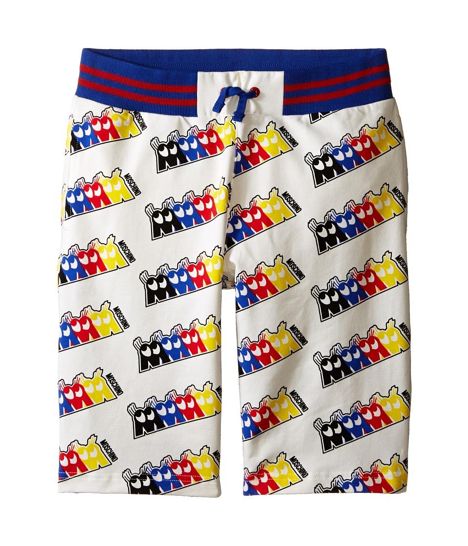Moschino Kids Fleece Bermuda Shorts Big Kids White Boys Shorts