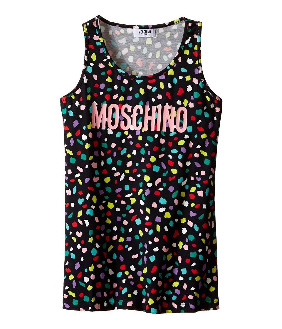 Moschino Kids Confetti Print Tank Top Big Kids Black Girls Sleeveless