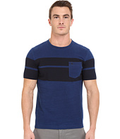 Original Penguin - Short Sleeve Indigo with Printed Twin Stripe Tee