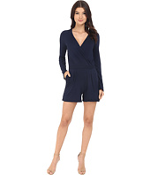 Three Dots - Kadiri Long Sleeve Wrap Romper