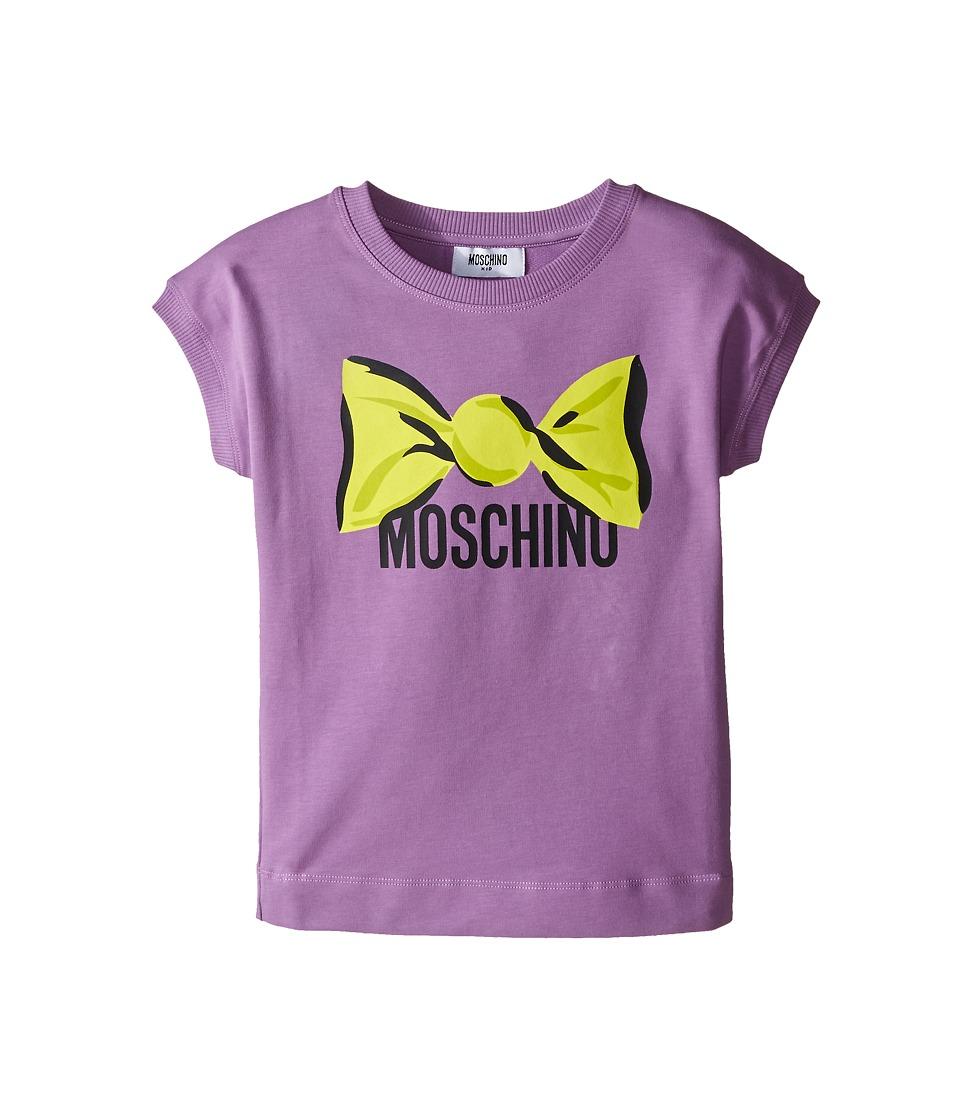 Moschino Kids Dress w/ Candy Logo Graphic Little Kids/Big Kids Purple Girls Dress