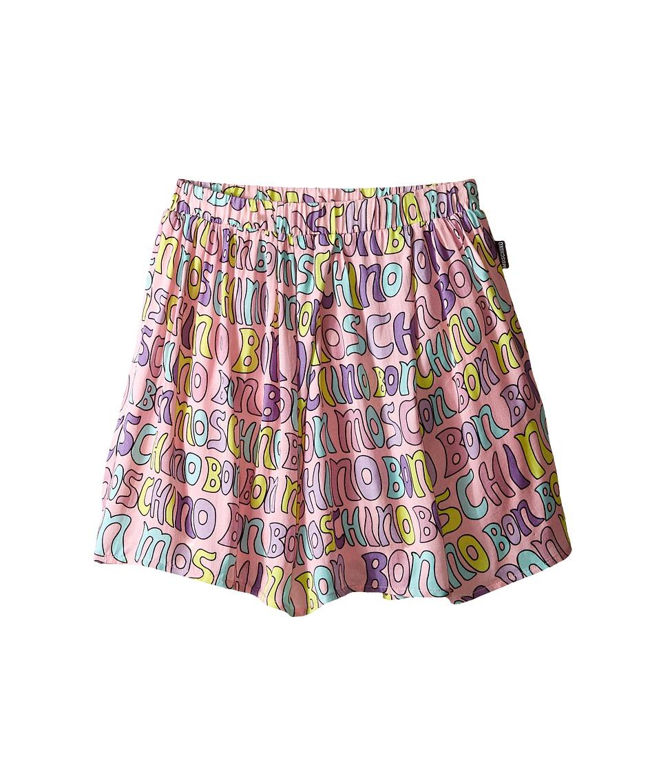 Moschino Kids Printed Skirt Little Kids/Big Kids Pink Girls Skirt