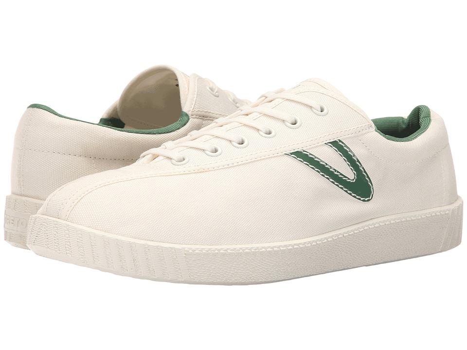 Tretorn Nylite B stad Snow White/Fairway Green Mens Shoes