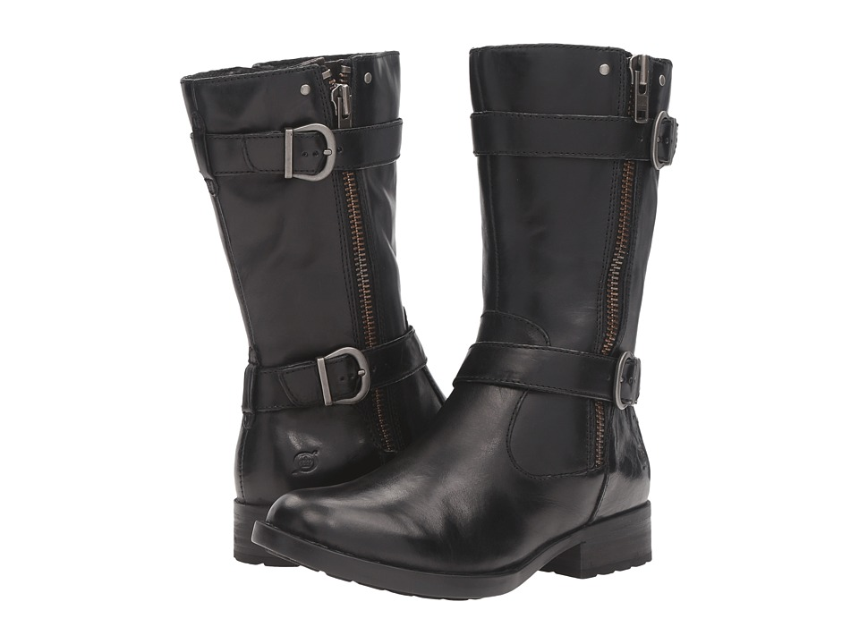 Born Erie (Black/Grey Full Grain Leather) Women