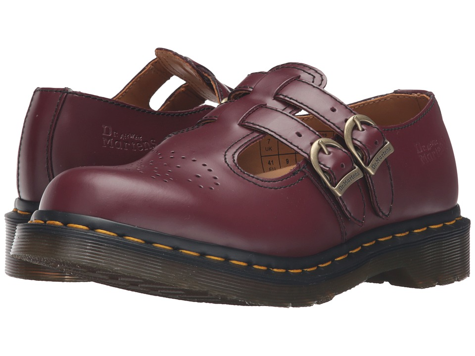 Dr. Martens 8065 (Cherry Red Smooth) Maryjane Shoes