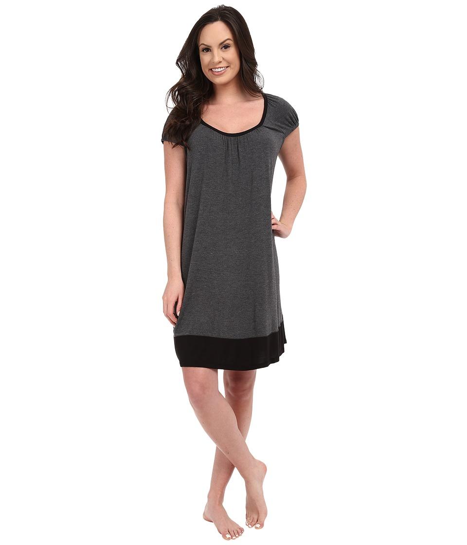 DKNY Urban Essentials Cap Sleeve Short Sleepshirt Heather Coal Womens Pajama