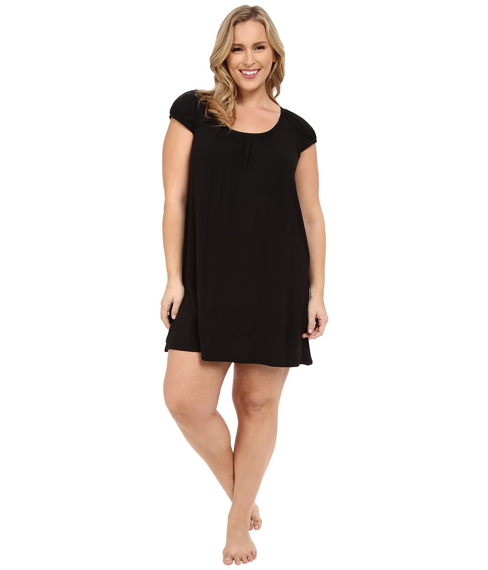DKNY - Plus Size Urban Essentials Cap Sleeve Short Sleepshirt