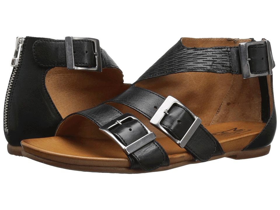 Miz Mooz Althea Black Womens Sandals