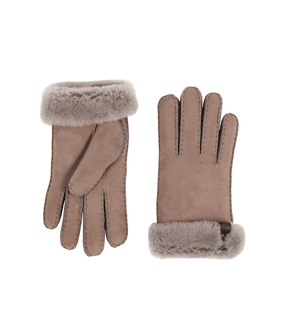 UGG Tenney Glove with Leather Trim (Stormy Grey Multi) Dress Gloves