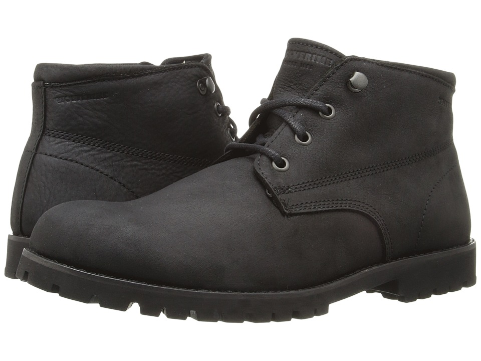 Wolverine Cort Waterproof Leather Chukka (Black Leather) Men