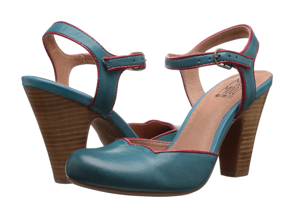 Miz Mooz - Nantes Blue High Heels $119.95 AT vintagedancer.com