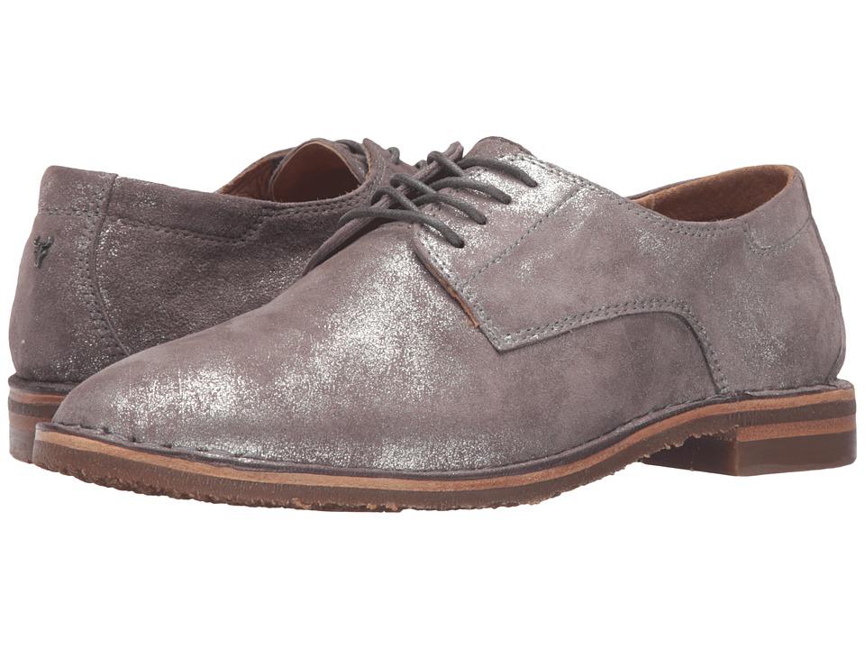TRASK Ana (Pewter Italian Metallic Suede) Women's Shoes