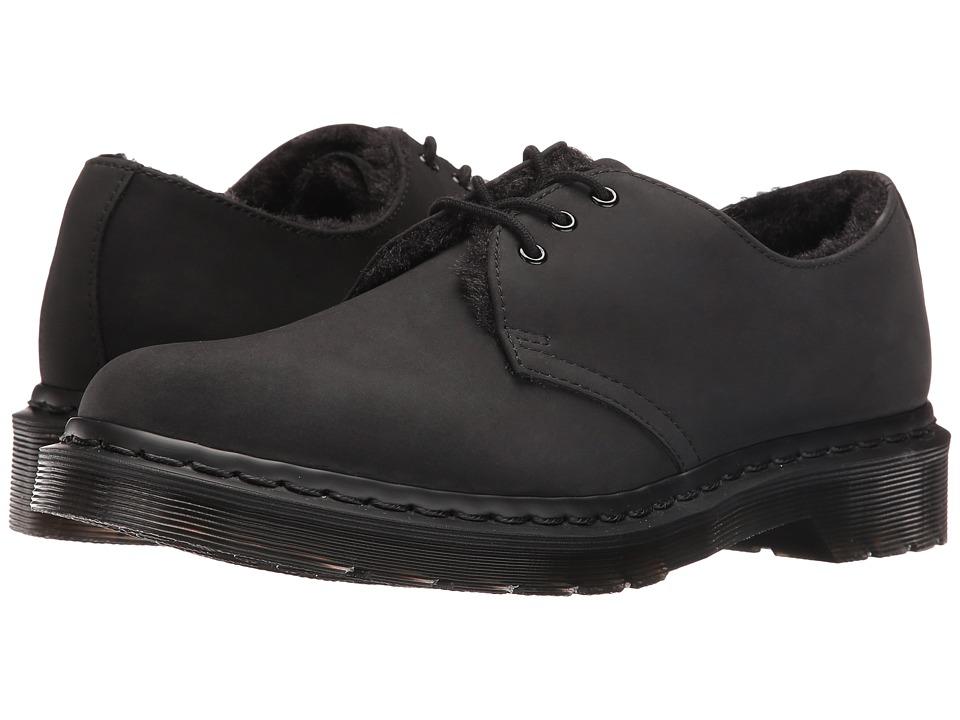Dr. Martens 1461 FL 3-Eye Shoe (Black Cascade Split) Women