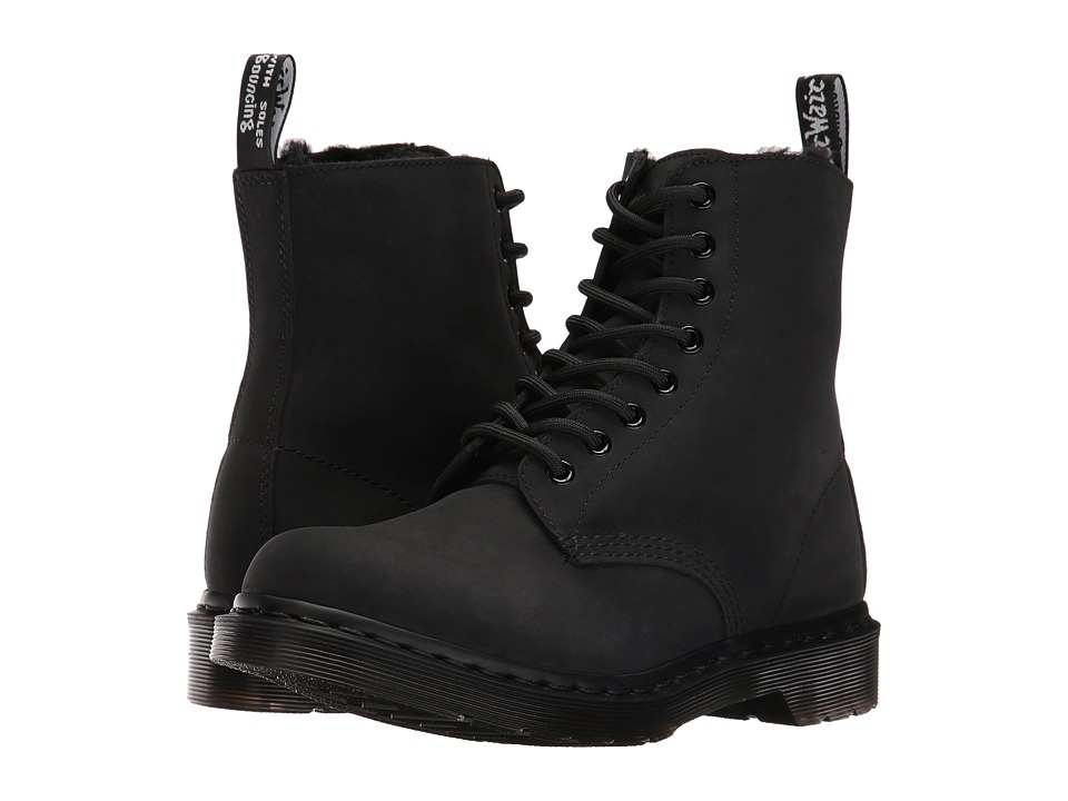 Dr. Martens Pascal FL 8-Eye Boot (Black Cascade Split) Women