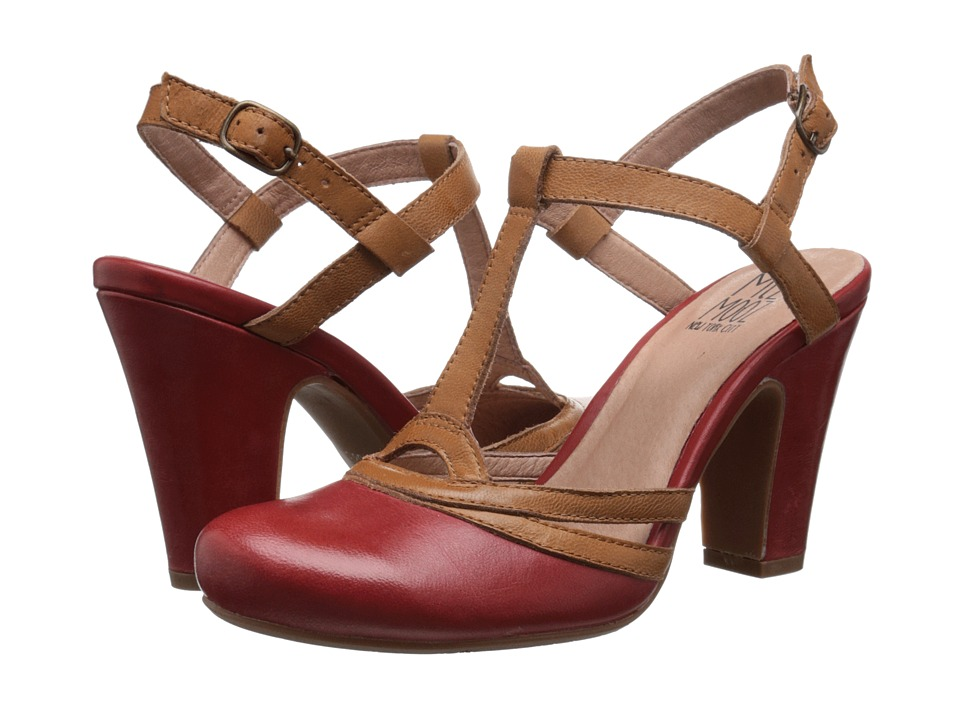 Miz Mooz - Josette Red Womens ClogMule Shoes $104.99 AT vintagedancer.com