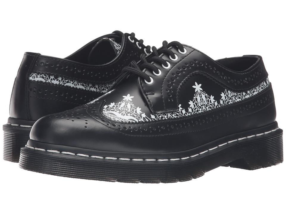 Dr. Martens 3989 Lace Wingtip Shoe (Black Smooth) Women