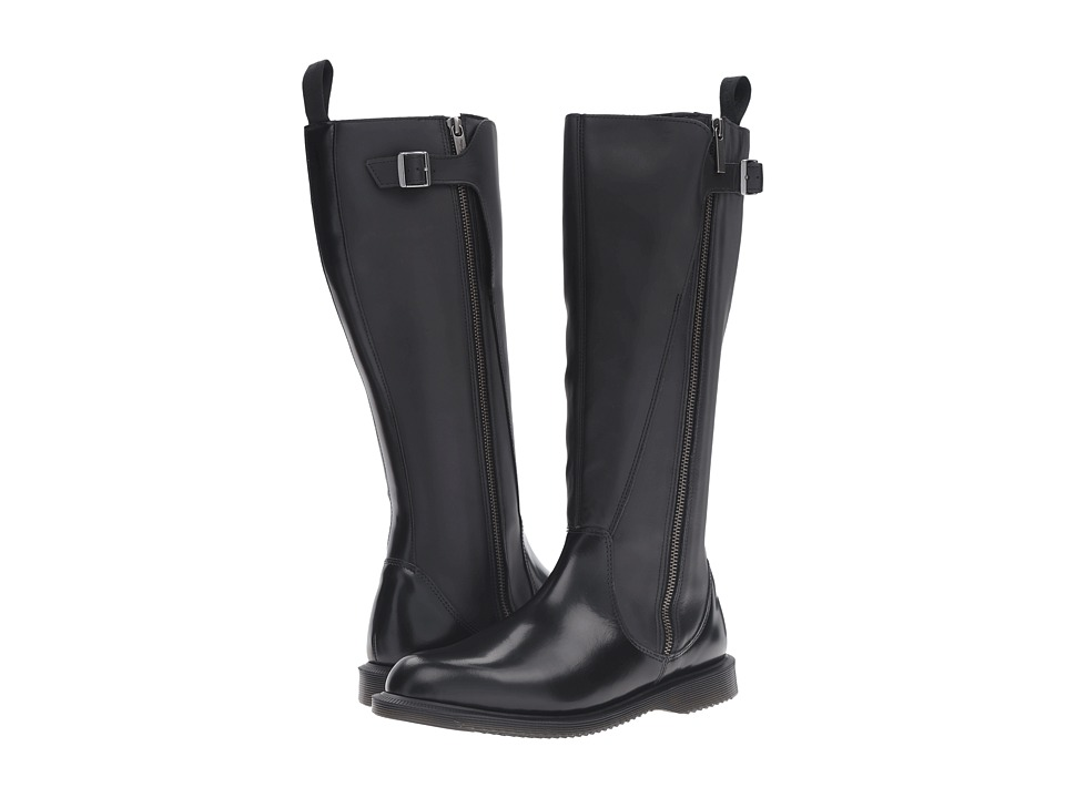 Dr. Martens Chianna Knee High Boot (Black Polished Smooth) Women