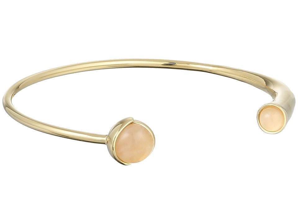 Cole Haan Stone Open C Cuff Bracelet Gold/Rose Quartz/Peach Bracelet