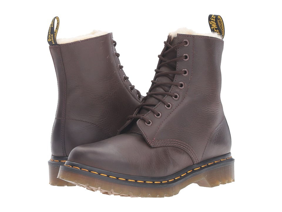 Dr. Martens Serena 8-Eye Boot (Dark Brown Burnished Wyoming) Women
