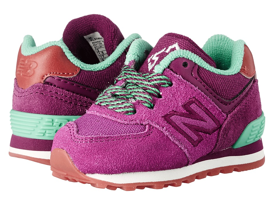 New Balance Kids - 574 New England (Infant/Toddler) (Purple/Blue) Girls Shoes