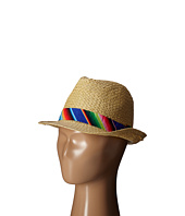 San Diego Hat Company Kids - Paper Fedora with Multicolored Band (Big Kids)