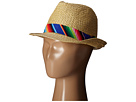San Diego Hat Company Kids Paper Fedora with Multicolored Band