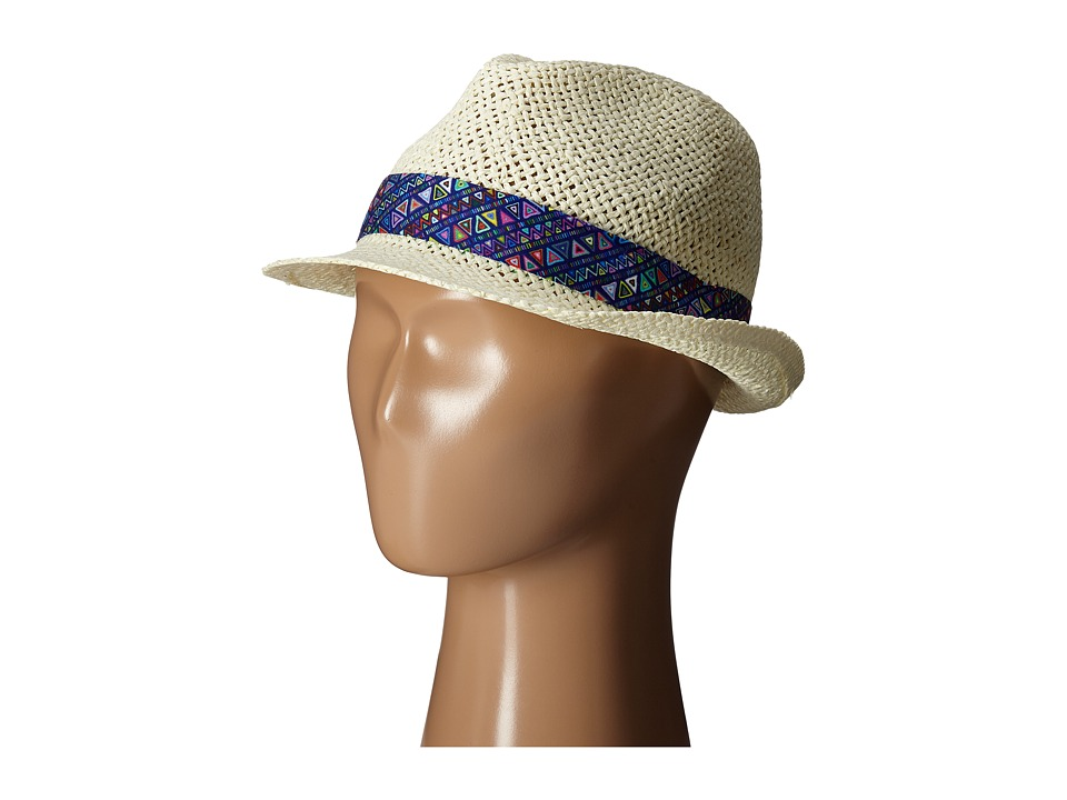 San Diego Hat Company Kids Fedora Hat with Noveltry Print Band Little Kids Ivory Fedora Hats