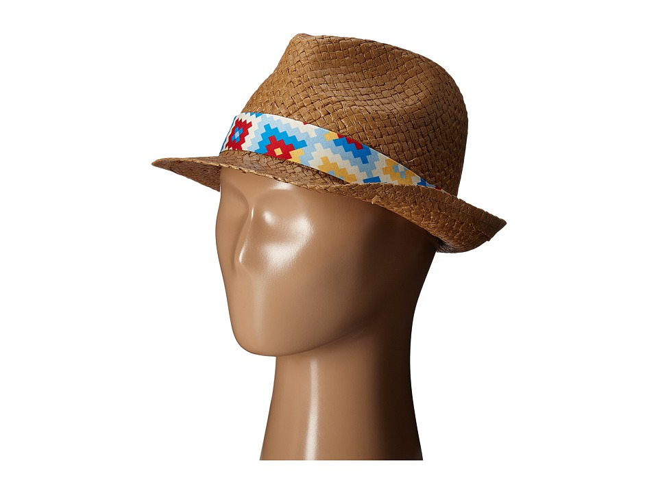 San Diego Hat Company Kids Fedora with Novelty Band Little Kids/Big Kids Tobacco Fedora Hats