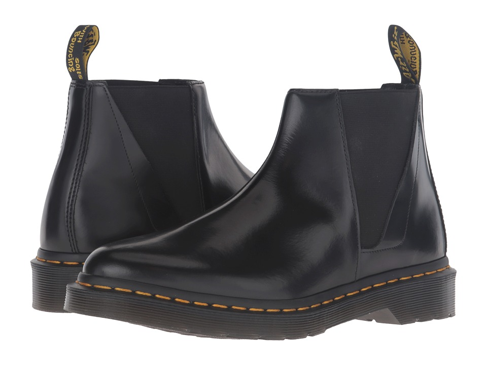 Dr. Martens - Bianca Low Shaft Zip Chelsea (Black Polished Smooth) Women