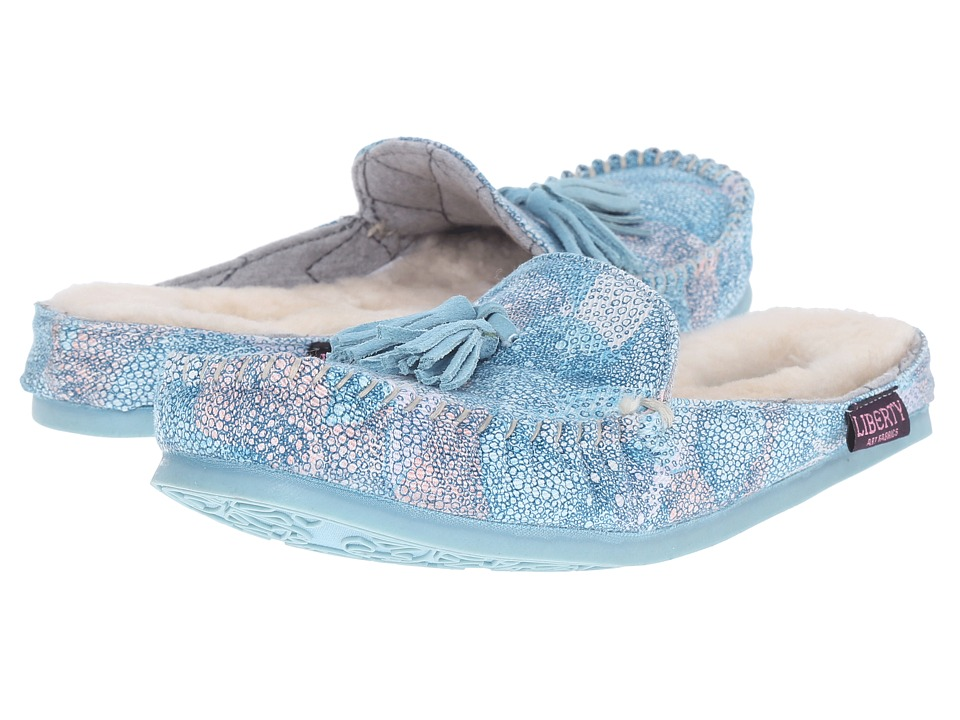 Bedroom Athletics Georgina Baby Blue Kaleidoscope Womens Slippers