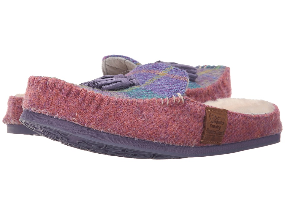 Bedroom Athletics Charlotte Lilac/Blue Check Womens Slippers