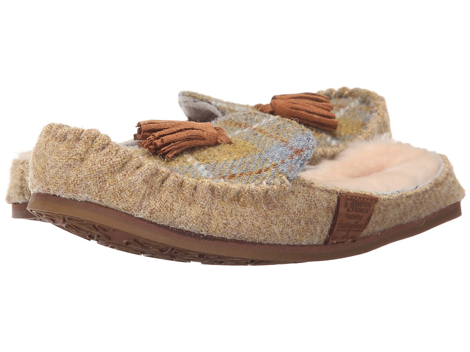 Bedroom Athletics Charlotte Mustard/Denim Check Womens Slippers