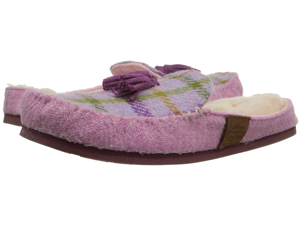 Bedroom Athletics Charlotte Lilac/Pink Check Womens Slippers