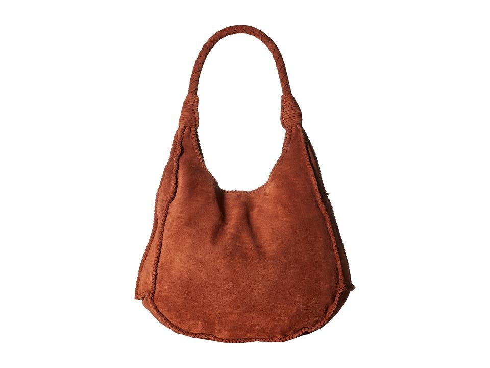 Image of Alice + Olivia - Andrew Suede Hobo (Cocoa) Hobo Handbags