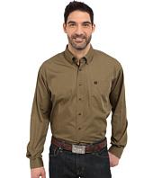 Cinch - Long Sleeve Solid Plain Weave