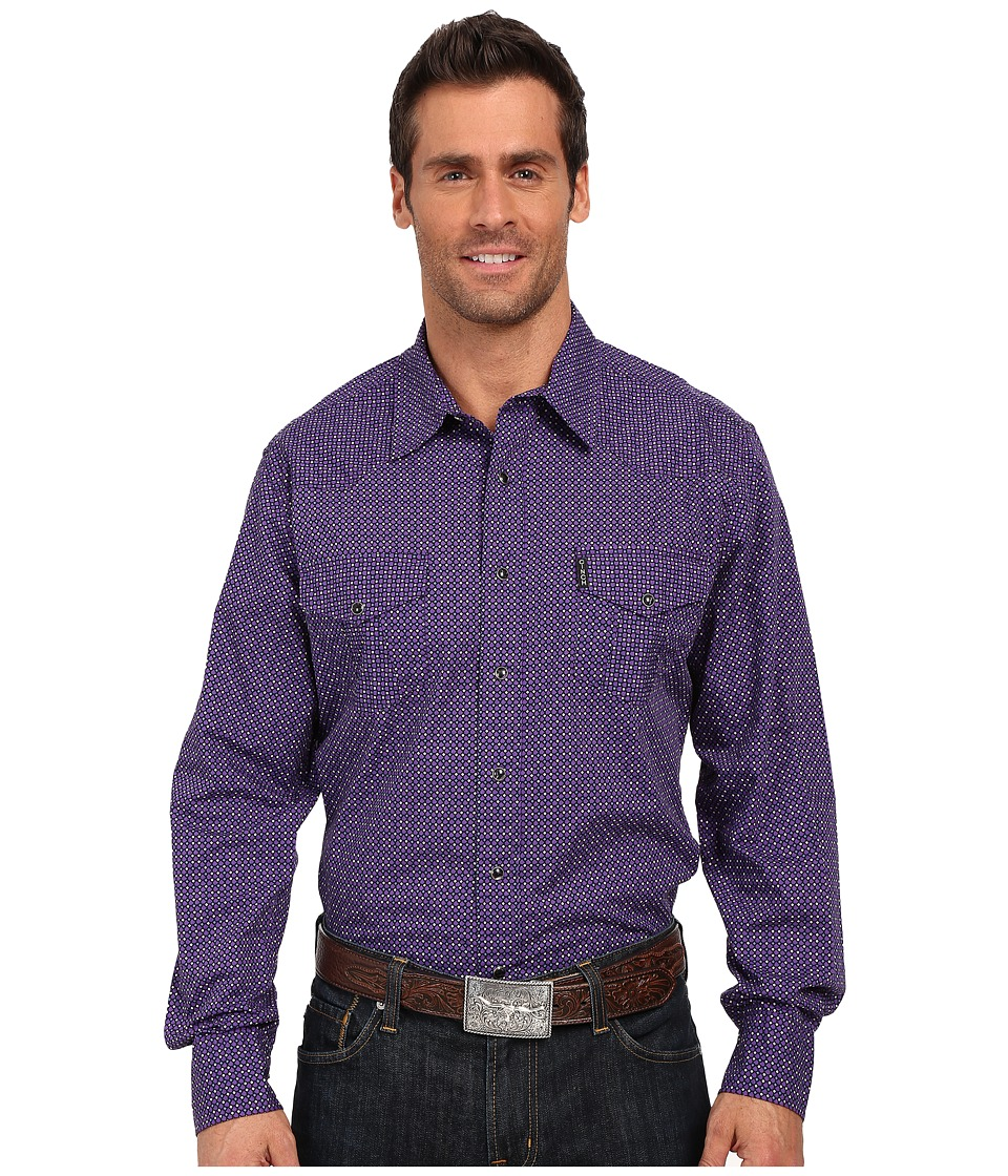 Cinch Modern Fit Western Plain Purple Mens Long Sleeve Button Up