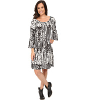 Roper - 0431 Feather Ikat Printed Jersey Dress
