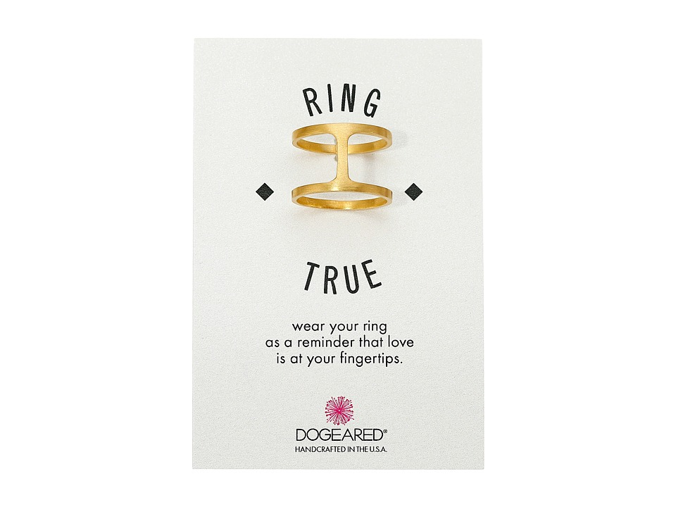 Dogeared Double Band Ring Gold Dipped Ring