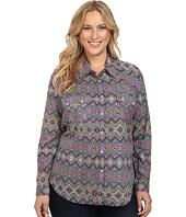 Roper - Plus Size 0448 Aztec Print Retro Shirt